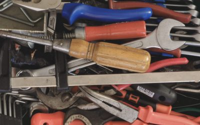 Heap of tools for woodworking